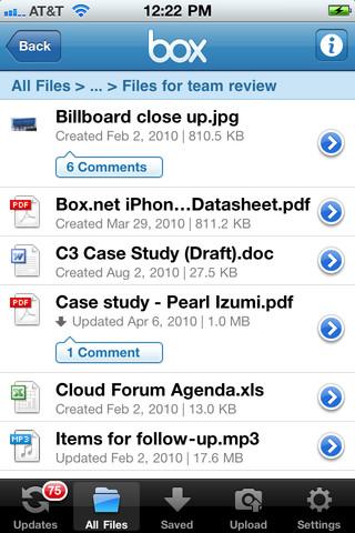 Box.net  50 Go de stockage en ligne gratuit sur iOS avec Box.net !