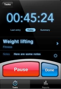 Capture d'écran12 207x300 Test de Time Mate : Gestionnaire de temps et de projets sur iPhone !