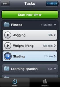 Capture d'écran21 208x300 Test de Time Mate : Gestionnaire de temps et de projets sur iPhone !