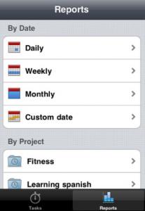 Capture d'écran51 207x300 Test de Time Mate : Gestionnaire de temps et de projets sur iPhone !