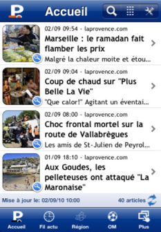 La provence Les bons plans de lappstore ce jeudi 27 octobre 2011