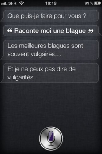 Siri iPhone4S 1 332x500 Lassistant vocal Siri a du caractère !