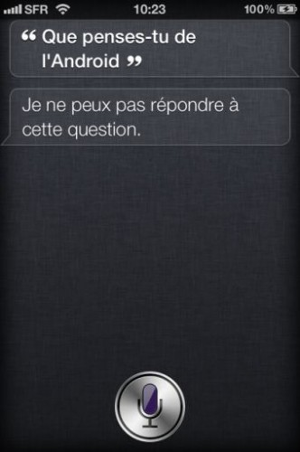 Siri iPhone4S 2 332x500 Lassistant vocal Siri a du caractère !