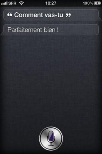Siri iPhone4S 4 332x500 Lassistant vocal Siri a du caractère !