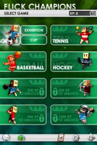 Test FlickChampions 081 200x300 [Test] Flick Champions, 8 mini jeux sport dans votre iPhone (0,79€)