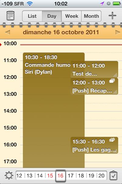 TestCalendarsReaddle009 Test de Calendars   Un calendrier amélioré pour iPhone et iPad (5,49€)