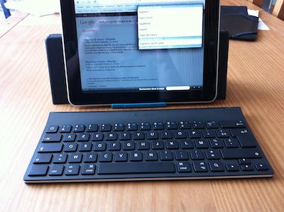 TestClavierLogitech015 Test de la Tablet Keyboard for iPad de Logitech   Un clavier/support pour taper plus rapidement sur iPad ! (59,99€)