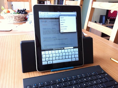 TestClavierLogitech023 Test de la Tablet Keyboard for iPad de Logitech   Un clavier/support pour taper plus rapidement sur iPad ! (59,99€)