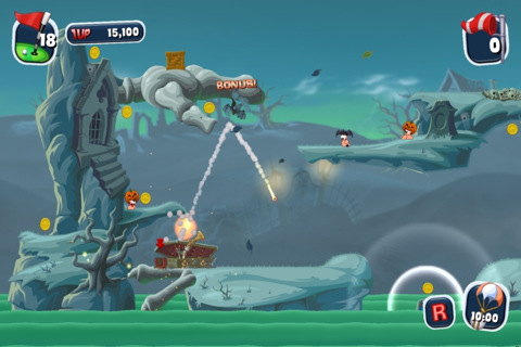 Worms 1 Worms Crazy Golf disponible sur iPhone et iPad