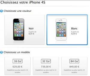 iPhone4S prix précommande 300x253 iPhone 4S disponible en pré commande chez Apple