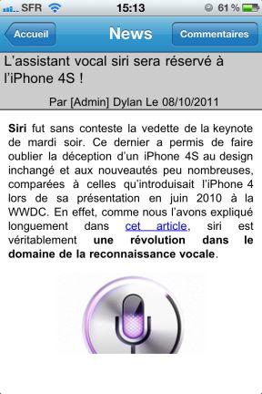 redacteur La mise à jour App4Phone V2.0.1 disponible sur lApp Store