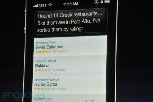 siri 4 500x332 Apple présente liPhone 4S   Un iPhone 4 amélioré... mais qui ne vaut pas un iPhone 5 !