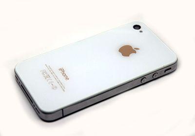 Blanche logo or Envie dun iPhone pas comme les autres ? Essayez les nouvelles façades arrières pour iPhone 4 et 4S