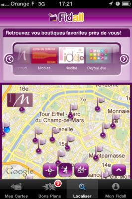 Fidall 11 Fidall (Gratuit) : Mettez toutes vos cartes de fidélité dans votre iPhone et profitez de bons plans ciblés !