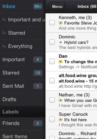 Gmail 2 Gmail sur lApp Store, le Come Back !