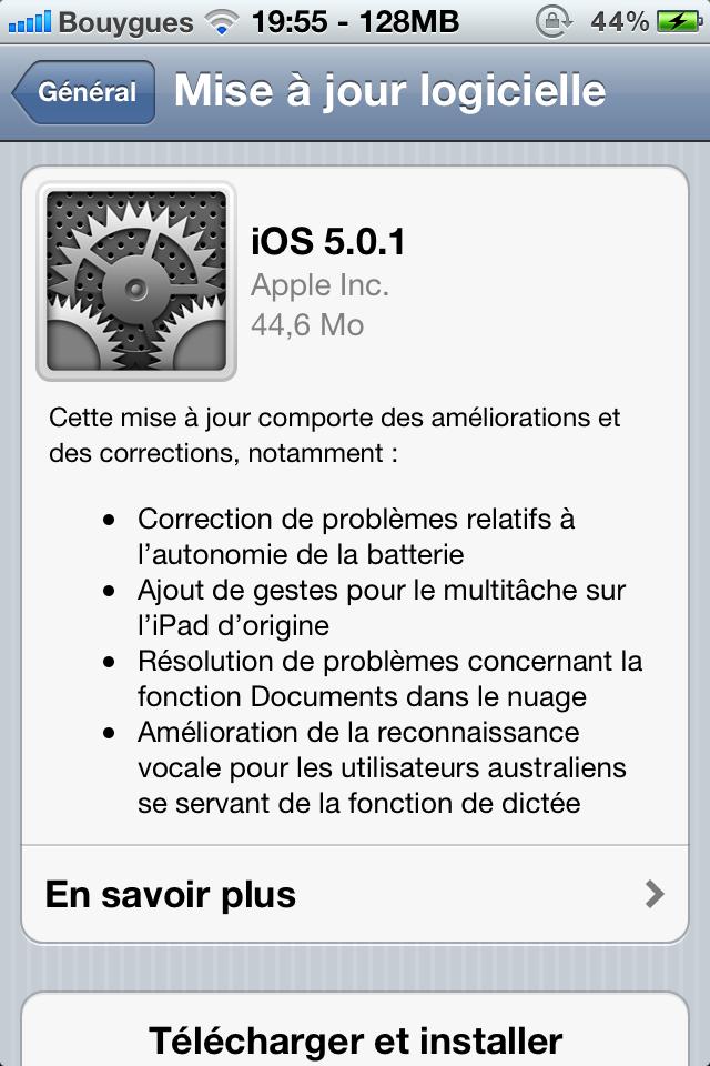 IMG 00911 iOS 5.0.1 disponible au téléchargement !