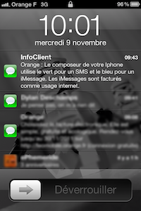 OrangeInfoiMessage1 Orange vous apprend ce quest un iMessage !
