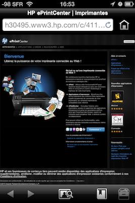 TestImprimanteHP006 Test de limprimante tout en un HP Photosmart 7510e, AirPrint sur iPhone