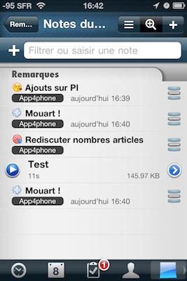 TestPI2009 Test de Pocket Informant 2.0 : la mise a jour quil manquait !