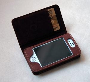 Verus wallet marron De nouveaux Étuis en cuirs haute qualité pour iPhone 4 et 4S (29,90€)