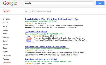 art22 Nouveauté : les applications directement depuis Google