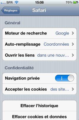 navigation privee 3 Astuce : Surfer discrètement sur son iDevice avec la navigation privée diOS5