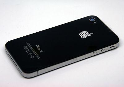 noir logo brillant Envie dun iPhone pas comme les autres ? Essayez les nouvelles façades arrières pour iPhone 4 et 4S