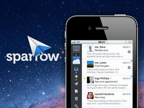 sparrow 1 500x374 Sparrow   Un client Gmail à labordage de lApp Store iOS pour bientôt !