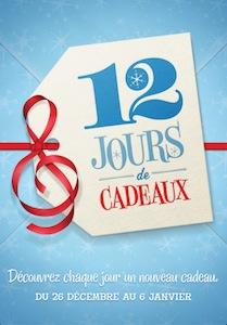 12 jours cadeau iTunes Les 12 jours diTunes disponible, un cadeau par jour dApple à partir du 26 décembre.