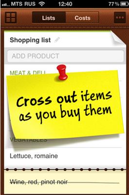 26 Test de Grocery Mate : gestionnaire de listes de courses (1,59 €)