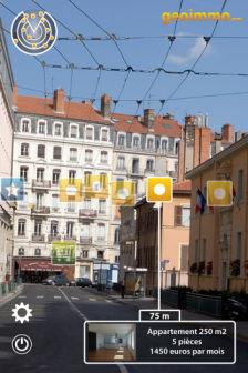 AR GeoImmo : Trouver un logement grâce à la réalité augmentée (Gratuit)