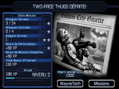 Batman Compte rendu combat Test : Batman Arkham City Lockdown (4,99€) sur iPhone et iPad