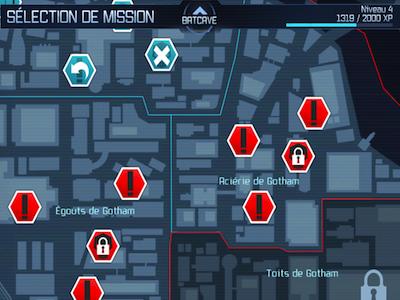 Batman Map Test : Batman Arkham City Lockdown (4,99€) sur iPhone et iPad