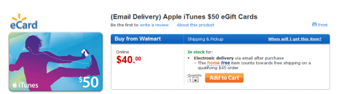 Capture 500x136  20% sur les cartes iTunes de 50$ chez Walmart !