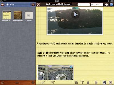 CcrsMyNoteBook 012 Test de My Notebook pour iPad : une application incroyable !