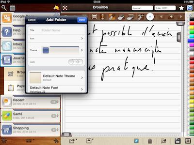 CcrsMyNoteBook 030 Test de My Notebook pour iPad : une application incroyable !