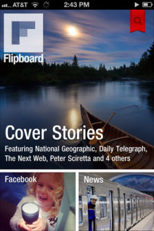FlipBoard 1 FlipBoard enfin disponible sur iPhone ! (Gratuit)