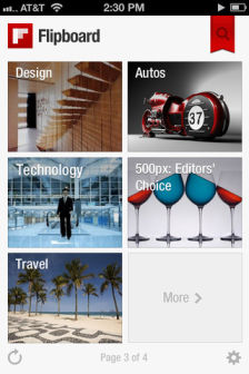 FlipBoard 2 FlipBoard enfin disponible sur iPhone ! (Gratuit)