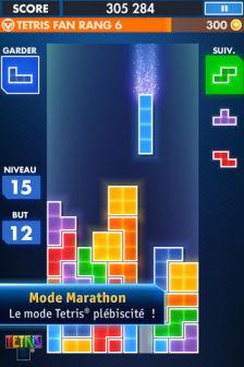 Mode marathon Tetris se refait une beauté sur iPhone !