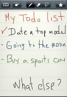 MyScript Memo Les App4Tops de lApp Store ce mardi 27 décembre 2011