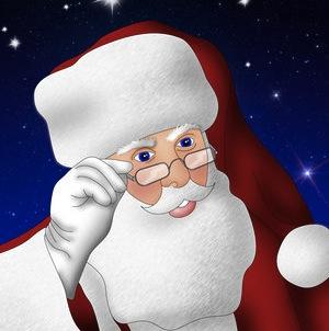 Pere noel Le Père Noël utilise aussi siri !