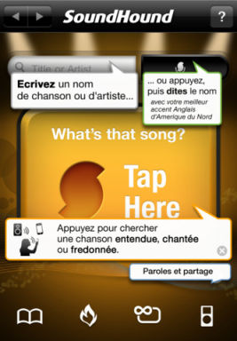 SoundHound1 Les App4Tops de lApp Store ce mercredi 28 décembre 2011