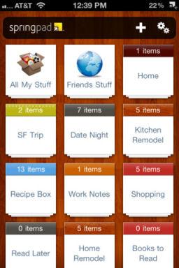 SpringPad Les App4Tops de lApp Store ce mercredi 28 décembre 2011