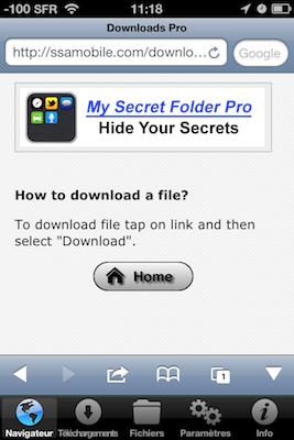 TestDownloadsPro 002 Test de Downloads Pro : Vos téléchargements au doigt et à loeil (1,59€)