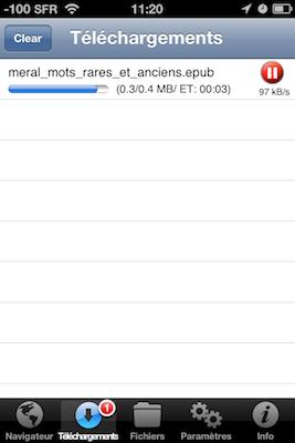 TestDownloadsPro 008 Test de Downloads Pro : Vos téléchargements au doigt et à loeil (1,59€)