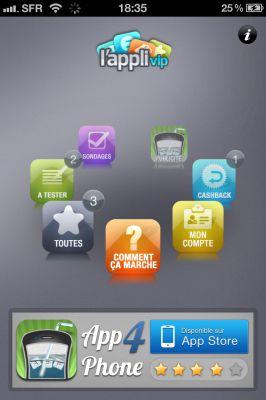 appvip 2 LAppli VIP est de retour sur lApp Store : Devenir testeur rémunéré dapplications iPhone