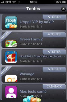 appvip 31 LAppli VIP est de retour sur lApp Store : Devenir testeur rémunéré dapplications iPhone