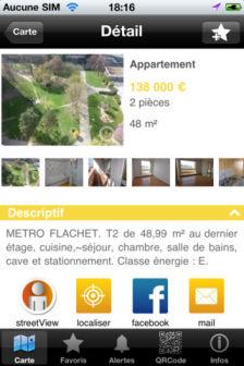 fiche détaillée GeoImmo : Trouver un logement grâce à la réalité augmentée (Gratuit)