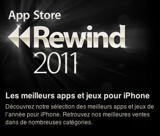 rewinds Apple désigne les meilleures Applications iOS pour 2011
