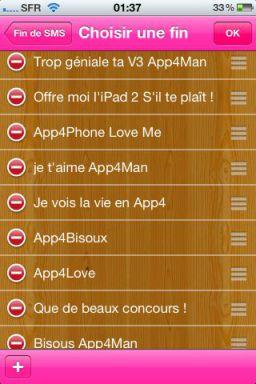 signatures Exclusivité : Lapplication Fin de SMS gratuite en partenariat avec App4Phone !